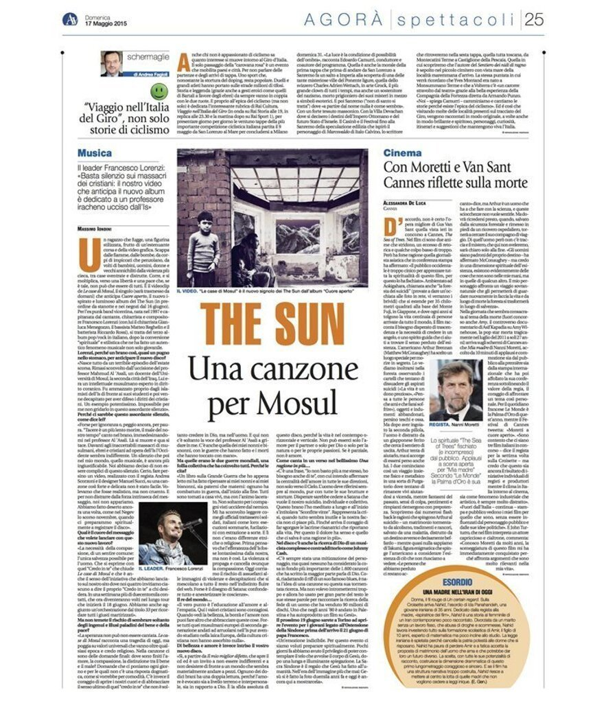 Avvenire The Sun intervista