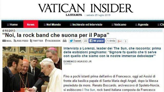 The Sun Vatican Insider intervista