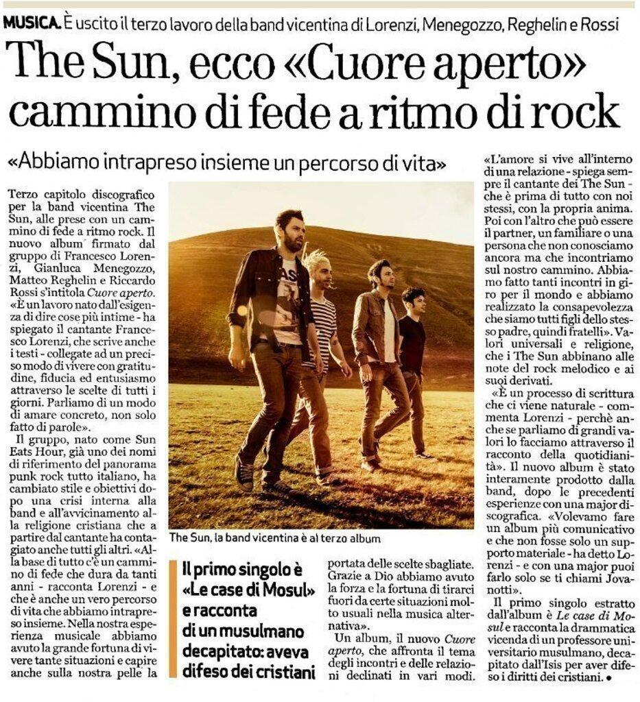 Il Giornale di Vicenza - intervista Francesco Lorenzi
