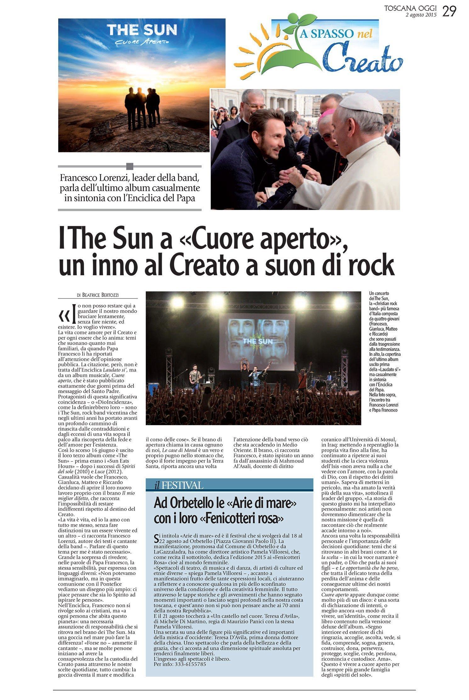 Toscana Oggi - intervista Francesco Lorenzi