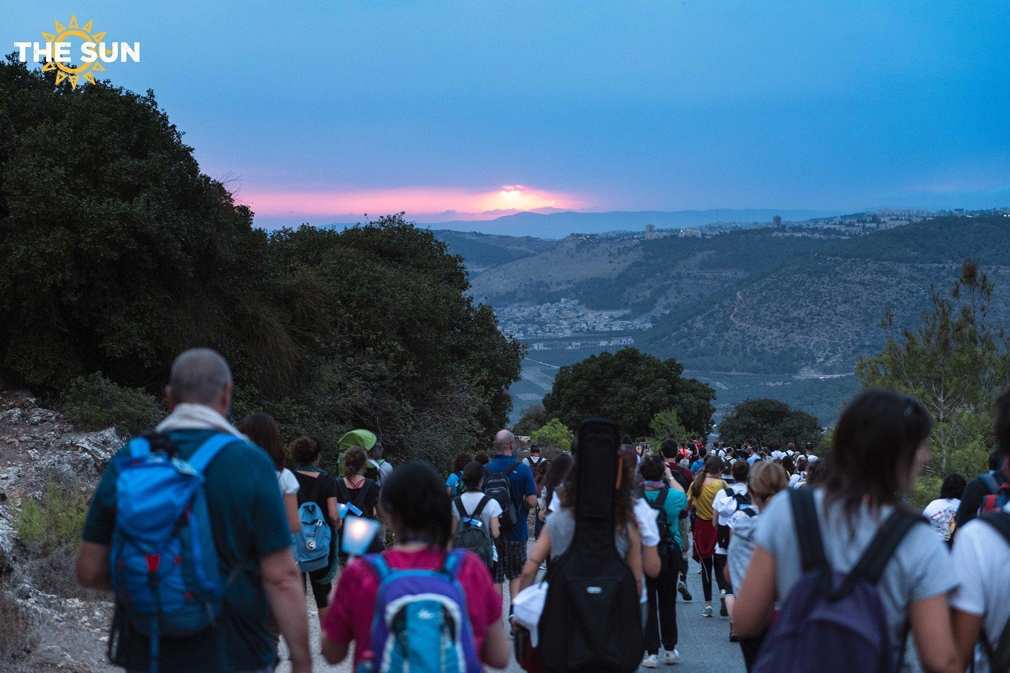 the sun in pellegrinaggio in terra santa
