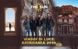 the sun rock band viaggio di luce Giordania 2019