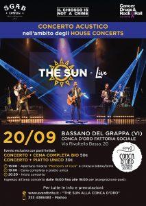 the sun rock band house concert bassano del grappa