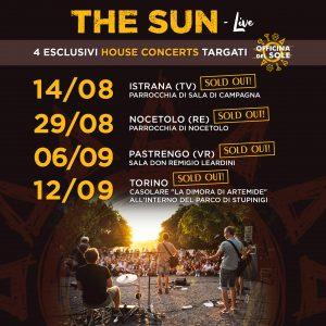 the sun rock band house concerts officina del sole