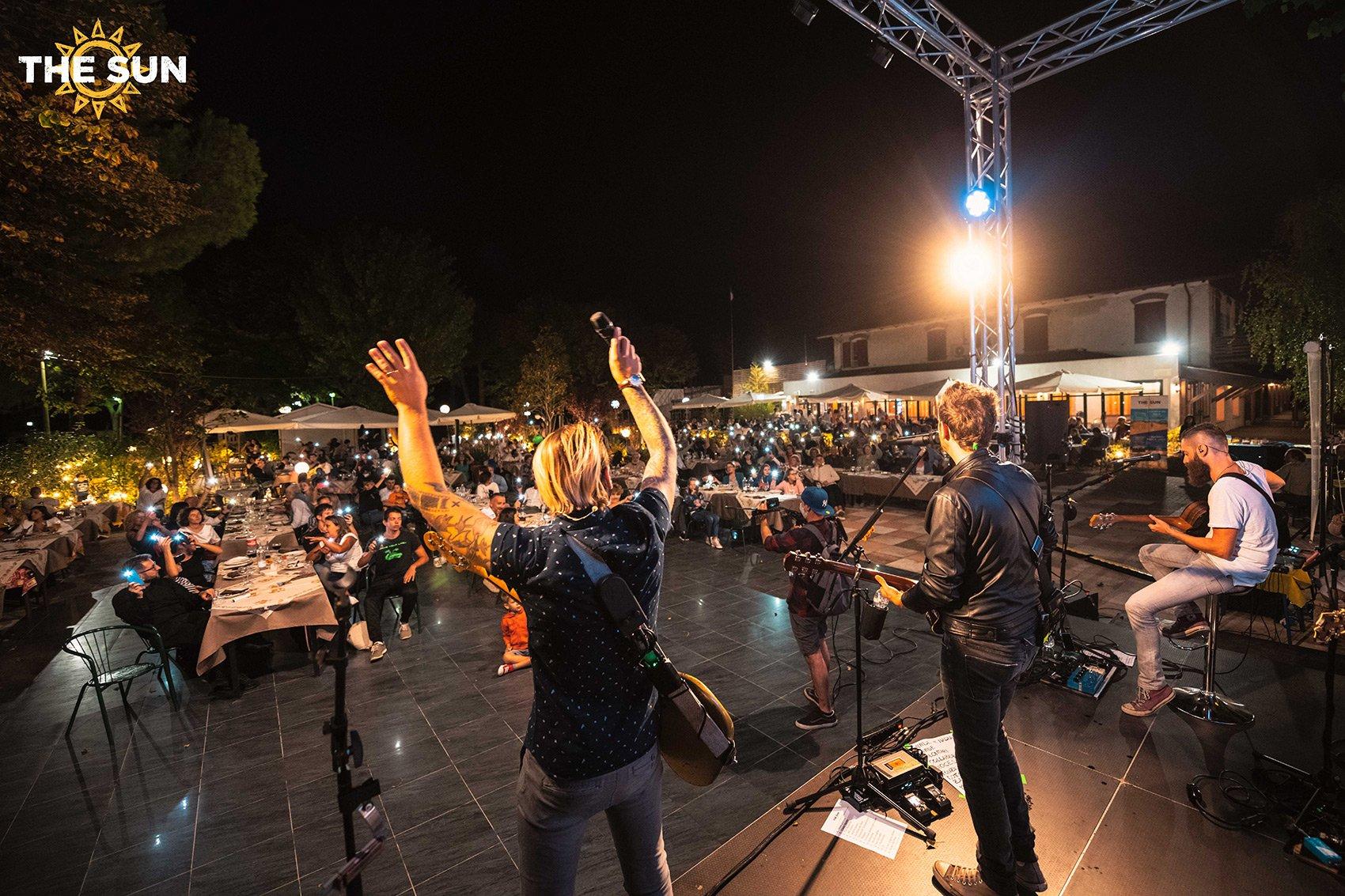 the sun rock band live bellaria