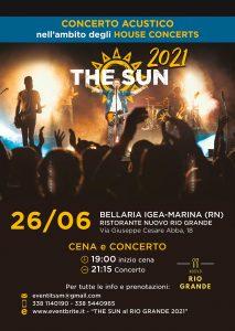 the sun rock band house concert nuovo rio grande