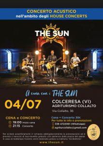 the sun rock band house concert colceresa