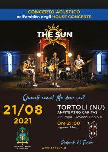 the sun rock band house concert sardegna