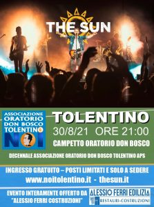 the sun rock band house concert tolentino